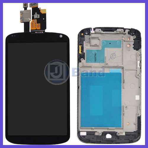 5sets/lot LCD Display Touch Screen Digitizer Assembly +Middle Frame for LG Google Nexus 4 E960 Free DHL Shipping new lcd touch screen digitizer with frame assembly for lg google nexus 5 d820 d821 free shipping