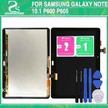 Diuji P600 LCD Panel Layar Sentuh untuk Samsung GALAXY Catatan 10.1 P605 Tampilan Layar Sentuh Digitizer Sensor Depan Kaca Perakitan
