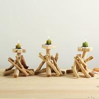 1pc Wooden Candleholder Home Decor Tealight Candlestick Festival Wedding Supply Flower/Heart/Butterfly Candle Holder Ornament