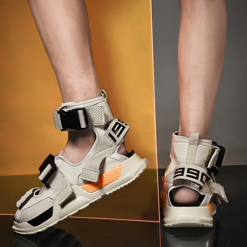 2019 Catwalk Style Haut Hommes Sandales D'été Toile Poids Léger Hommes Chaussures Décontractées Mocassins Antidérapant Plage Sandales Chaussures