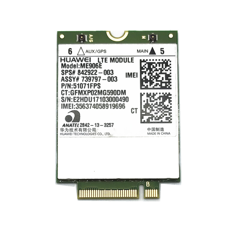 UNLOCKED HUAWEI ME906E LTE 4G module SPS 842922-003 WWAN NGFF Card Module 3G 4G NETWORK CARD For HP ZBOOK 14 15 4g module 4g network card lte module card full cnc js9331 development board supporting