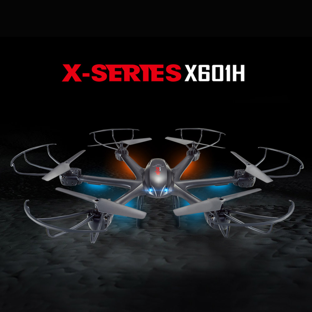 MJX X601H drone WIFI FPV 0.3MP HD Camera RC Quadcopter APP/Transmitter Dual Mode Altitude Hold 3D Flip Helicopter RC toys RTF mjx x601h wifi fpv 720p cam air pressure altitude hold 2 4ghz app control 4 channel 6 axis gyro hexacopter 3d rollover