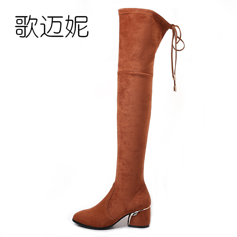 ladies thigh high boots women botas mujer womens winter over the knee boots boot bota de neve botines mujer 2017 laarzen odetina warm cotton snow boots black over the knee long boots womens thigh high boots waterproof fashion ladies winter shoes