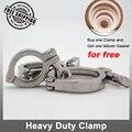 Acessórios trevo Tri Tri grampo de aço inoxidável SS304 sanitária Heavy duty tipo