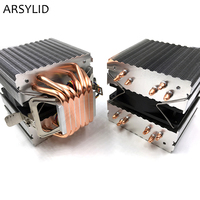 ARSYLID CN 609A CPU Cooler 9cm Fan 6 Heatpipe Dual Tower Cooling For Intel LGA775 1151