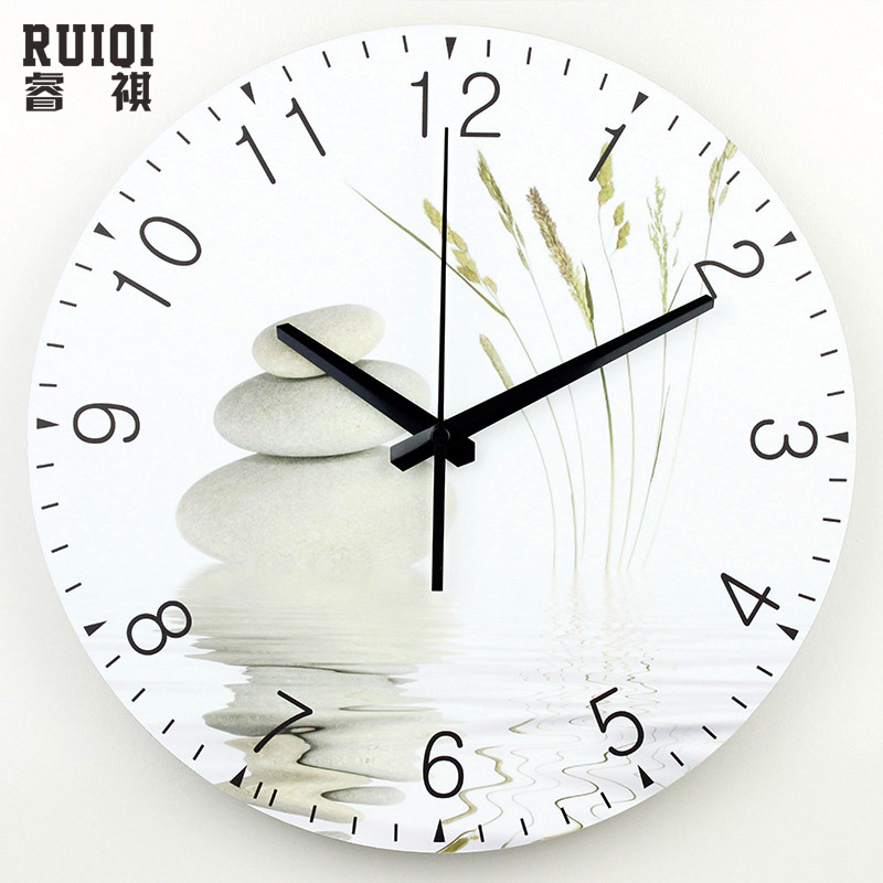 Large wall clock modern design silent living room 3d wall for Design wall clocks for living room