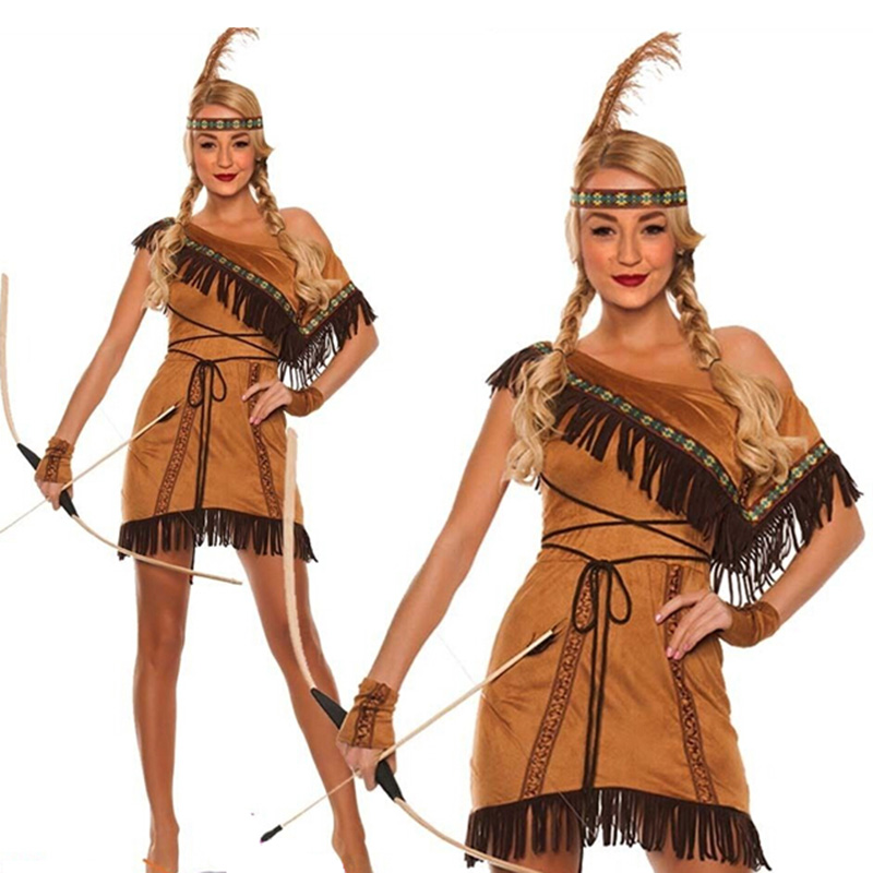 xxxl xxxxl  Ladies Native Indian Wild West Pocahontas Fancy Dress party carnival holiday Costume