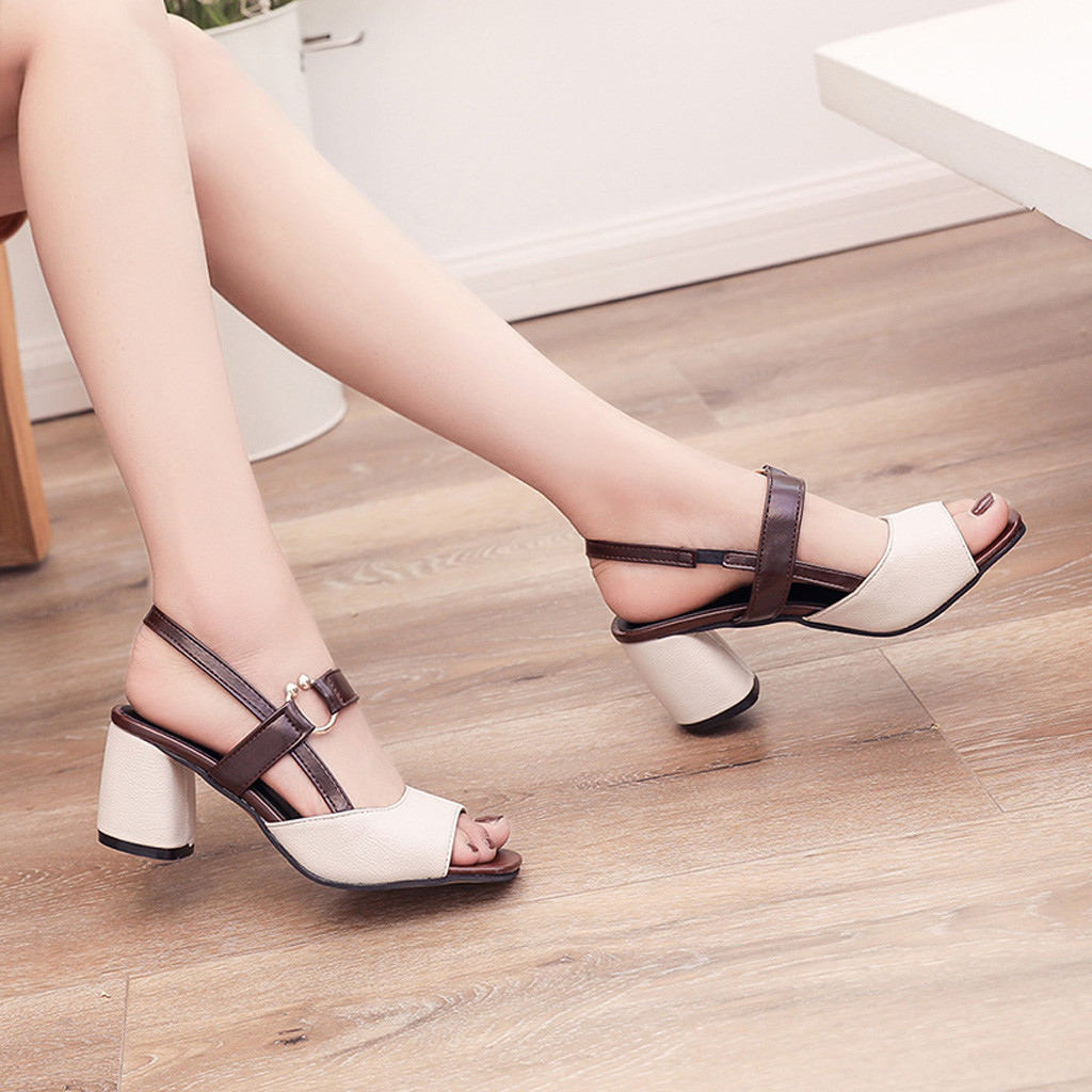2019 Mode Frauen Sandalen High Heel Sandalen Frauen Sommer Schuhe Peep Toe Casual Gladiator Sandalen Alias Mujer Verpackung Der Nominierten Marke
