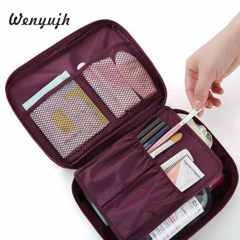 Travel Cosmetic Bag Organizer Waterproof Multifunction Zipper Women Toiletry Makeup Bag Female Storage Cosmetic Make Up Cases