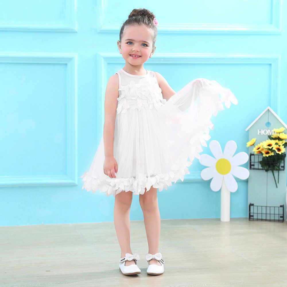 a4fed7f98fc3e Baby Summer Girls Clothes Applique Princess Dress Children Tutu Mesh  Clothes fashion vestidos de bebe para fiestas