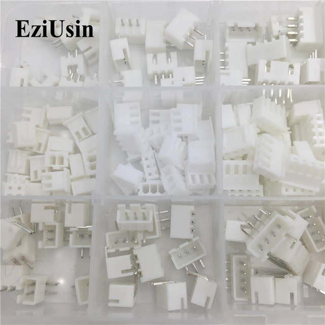 100Sets/Lot Mix Kit JST XH 2 54 2P 3P 4P 5P Connector Leads Header Housing  Pin header Terminal A AW Wire Connectors Adaptor-in Connectors from Lights