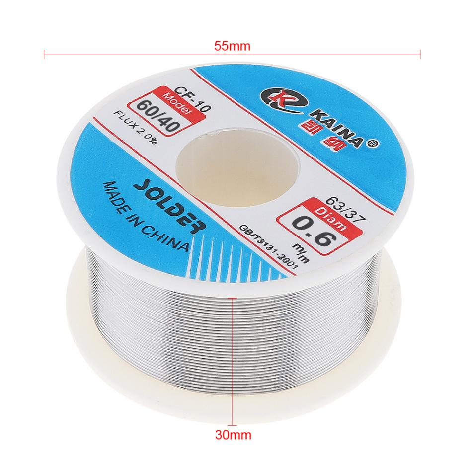 Image 3 - kaina Welding Wire 0.5/0.6/0.8/1/1.2/1.5/2.0mm Solder Wire 100g 60/40 FLUX 2.0% Tin for Soldering Lead Free Solder for Aluminum-in Welding Wires from Tools