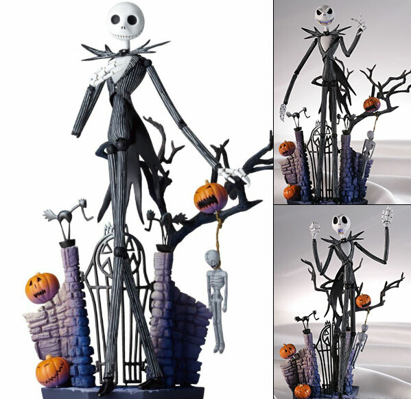 SCI-FI <font><b>Revoltech</b></font> Series NO.005 Jack Skellington PVC Action <font><b>Figure</b></font> Collectible <font><b>Model</b></font> Toy 18.5cm