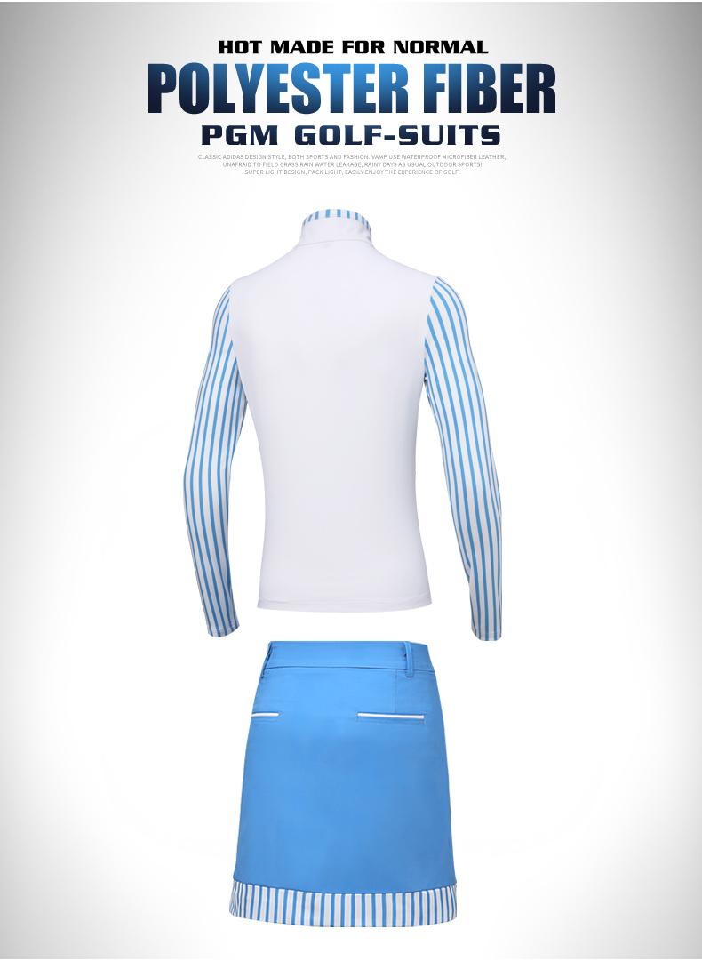 Pgm correr tênis de golfe roupas femininas