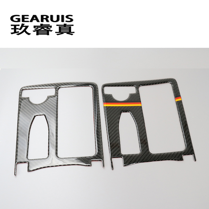 carbon fiber Car Styling For Mercedes Benz E class W212 LHD Coupe C Class W204 Interior Water Cup Holder Panel Decoration Trim