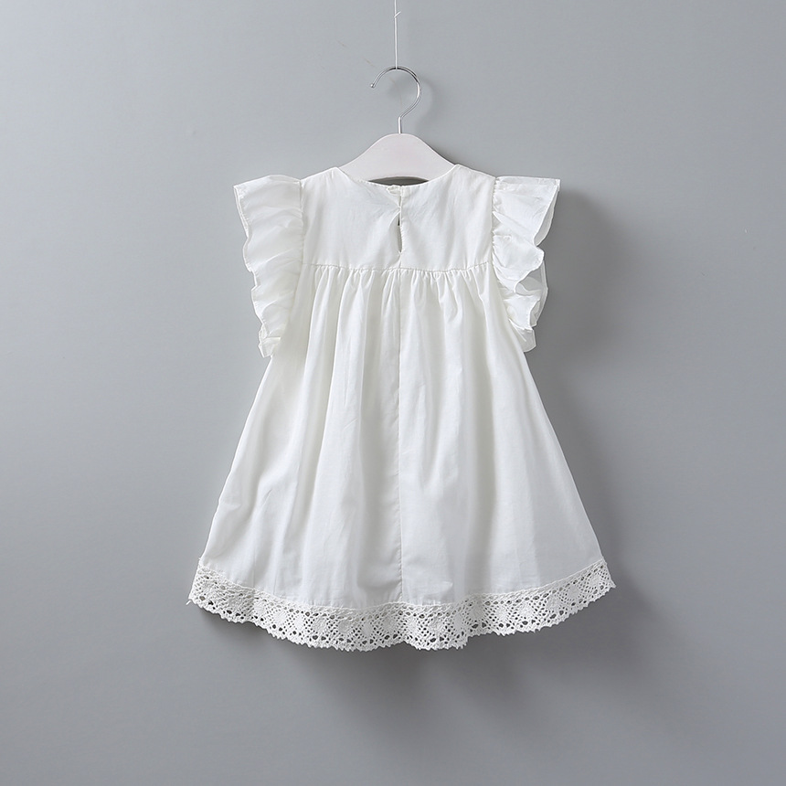 95476073b 2017 Baby Girls Crochet Lace Dresses Kids Girls Princess Ruffle ...