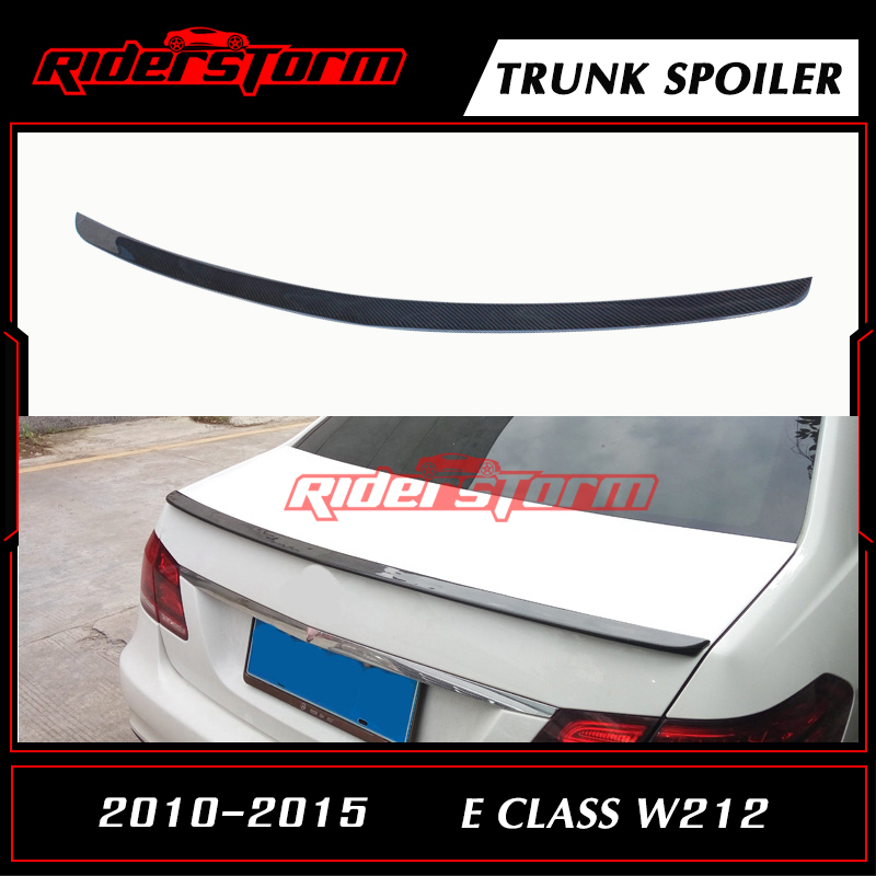 W212 Amg Spoiler With 3M Tape E Class Carbon Rear Trunk Tail Wing Bootlid Lip For Mercedes 4 Door Sedan E200 E250 2010-2015 цена