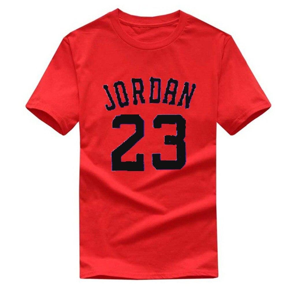 Personality Hip hop printing short sleeve fashion No 23 T font b shirt b font Cotton