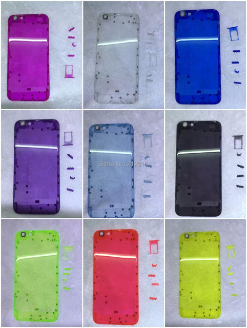 official photos 479a5 146aa US $29.0 |New Colorful Transparent Plastic Middle Frame Back Cover Housing  For iPhone 6 4.7inch Free Shipping-in Mobile Phone Housings from Cellphones  ...
