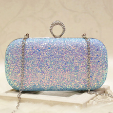 Dazzling Glitter Women Evening Clutches Sequins Wedding Party Dinner Day Clutch Purse Bag Banquet Golden Chain Shoulder Bags cocktail prom evening bag long box beautiful girl party banquet purse retro style clutches messeng bag women dinner handbags