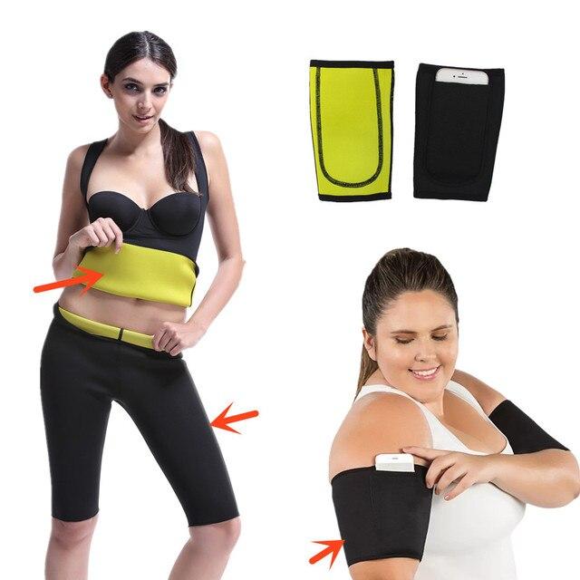 Slimming Pants Vest Neoprene Body Shapers Belt Sweat Sauna Modeling Strap Waist Trimmer Trainer Arm Sleeves Corset Shapewear 1