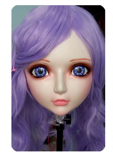 dm018 Women/girl Sweet Resin Half Head Kigurumi Bjd Mask Cosplay Japanese Anime Lifelike Lolita Mask Crossdressing Sex Doll Fancy Colours Kids Costumes & Accessories
