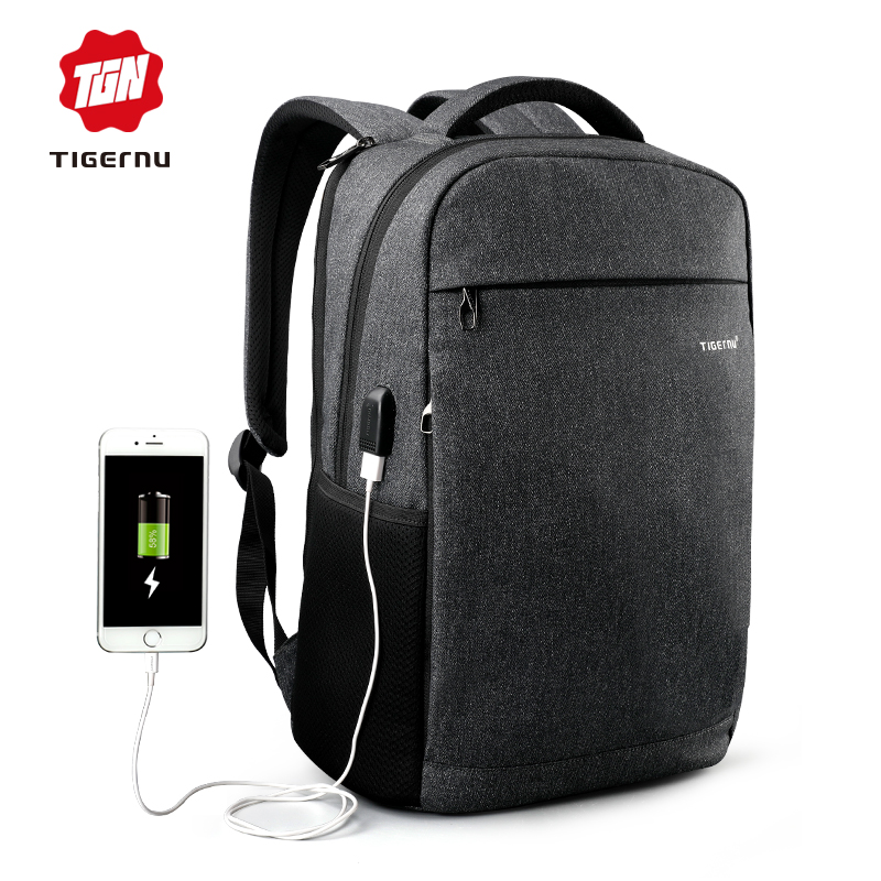 2017 Summer Tigernu Anti thief USB charging font b Laptop b font font b Backpack b