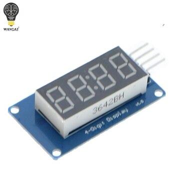 TM1637 СВЕТОДИОДНЫЙ Дисплей Модуль Для Arduino 7 Сегмент 4 Бит 0.36 Inch Часы КРАСНЫЙ Анод Цифровой Трубки Четыре Последовательный Драйвер Доска пакет