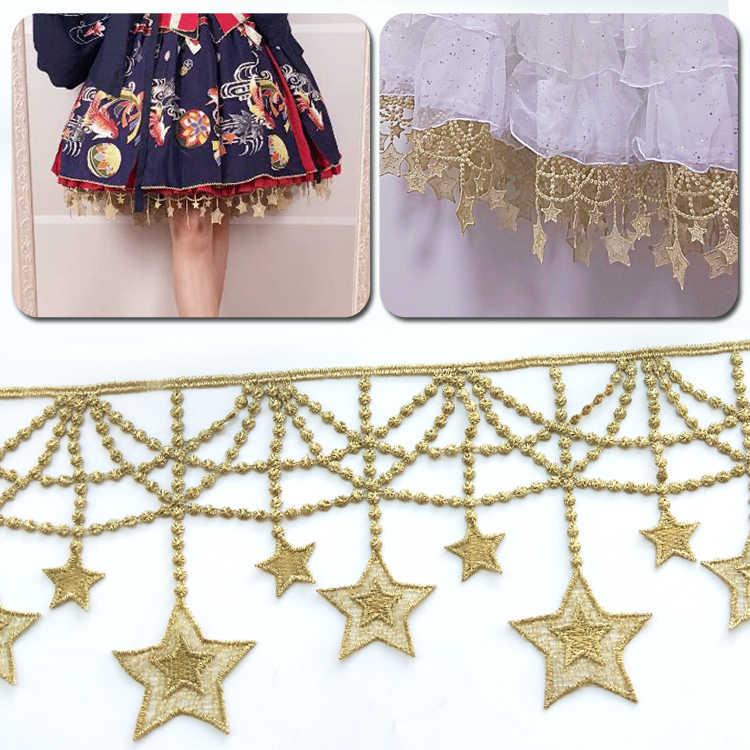 1 Yard Star Tassel Lace Fringe Lace Trim Ribbon Costume Home Curtain Dress Decor