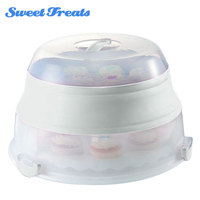 Sweettreats Collapsible Cupcake Box Carrier Cake Tray Cupcake Stand Accessory Household Kitchenware