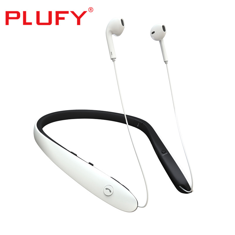 PLUFY Newest Earphones P8 bluetooth headphone wireless Voice Intelligence music neckband foldable sport headset with mic цена
