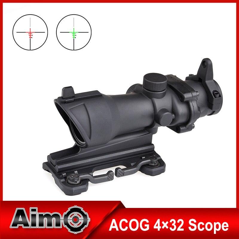 Aim-O Vortex Enhanced Edition .308 ACOG 4x32 Optical Rifle Scope Real Red Optic Fiber Black AO5314 gamesir g3s wireless gamepad enhanced edition black