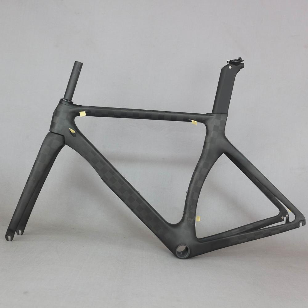 Produits OEM zéro profit Aero design ultra-léger 18K carbone cadre de vélo de route en fibre de carbone course cadre de vélo 700c accepter peinture