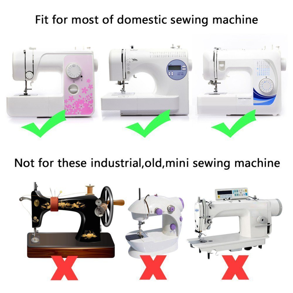 and Singer Low Shank Sewing Machines Sewing Machine Presser Feet Set Babylock Janome 17 Sets Universal Industrial Flat Sewing Machine Foot Kit for Brother