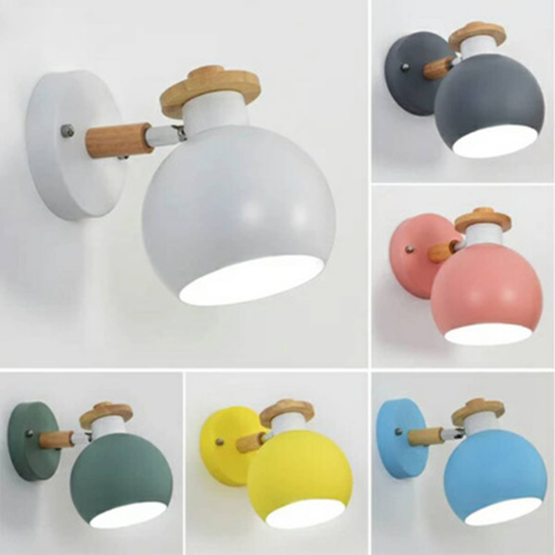Funky Wall Lights >> Us 19 45 39 Off Modern Macaroon Wooden Wall Lamp Indoor Bedside Funky Swing Europe Wall Light Lounge Reading Metal Decorative Wall Sconces In Led