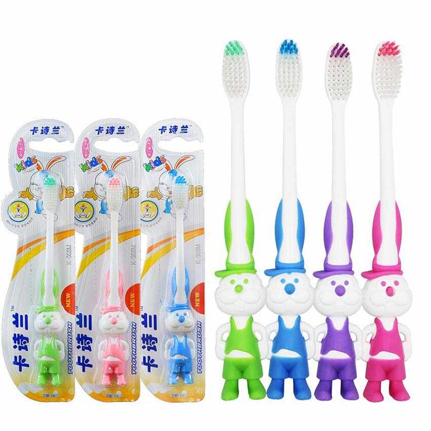 2Pcs Baby Boy Girls Cartoon Toothbrush Soft Baby Protective Teeth Brush For Children Kids Oral Hygiene Dental Care