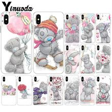 Yinuoda Tatty Teddy Bear Me To You Transparent Soft Shell Phone Cover for Apple iPhone 8 7 6 6S Plus X XS MAX 5 5S SE XR