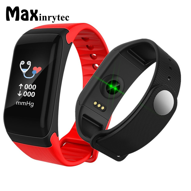 Maxinrytec Écran Couleur Étanche F1 Plus Smart bracelet Bracelet Fitness Tracker Appel Rappel Étape Pulse Moniteur de Fréquence Cardiaque
