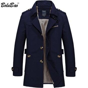 BOLUBAO hommes veste manteau mode Trench manteau nouveau printemps marque décontracté Fit pardessus veste d'extérieur mâle