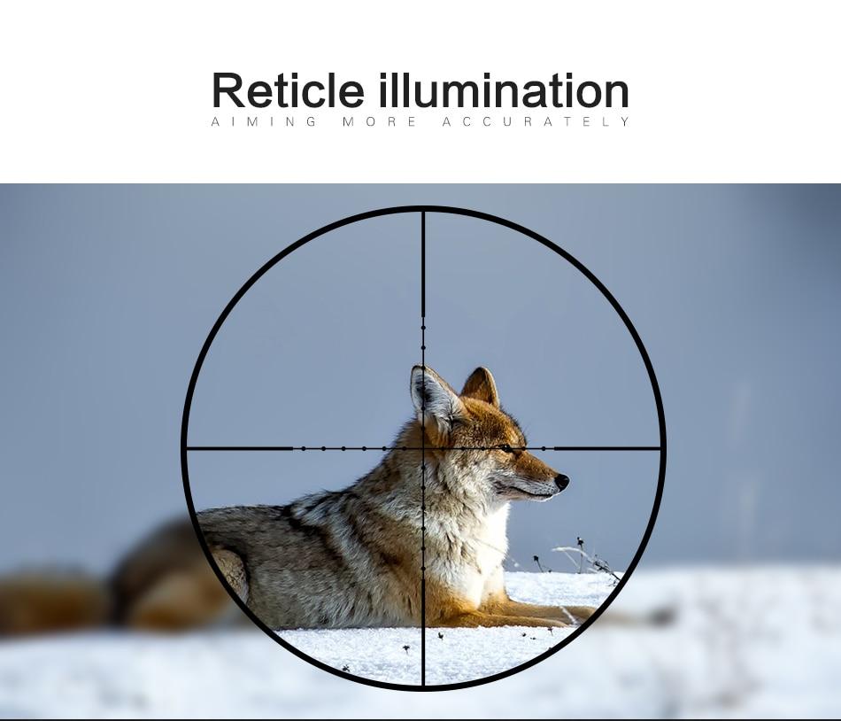 2-7x20 hd riflescope mil ponto retículo vista