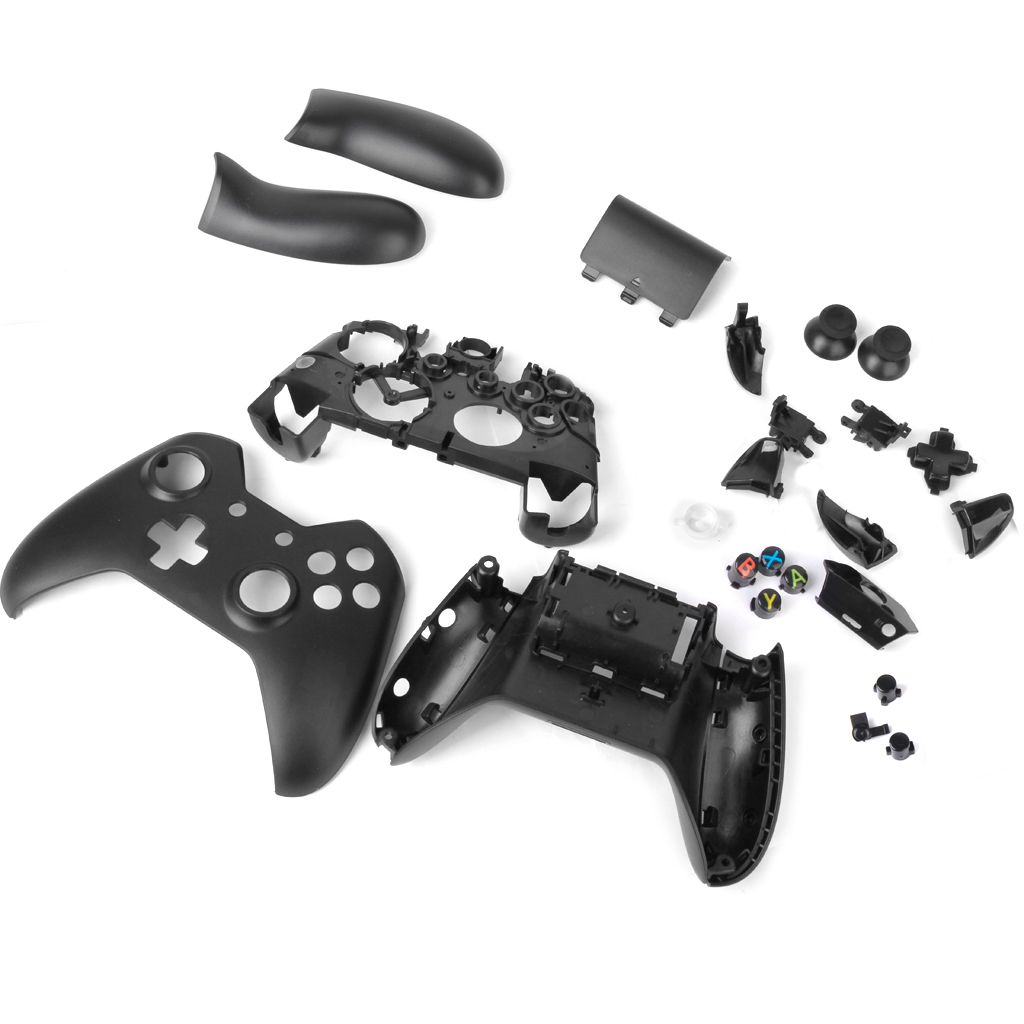 цена Full Housing Shell Case Kit Replacement Parts for Xbox One Wireless Controller - Black