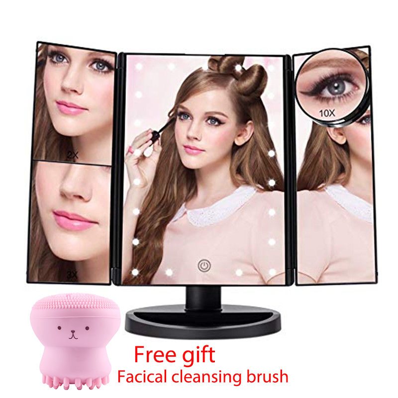 Fascinate Lighted Makeup Mirror 24LED Lights Touch Screen