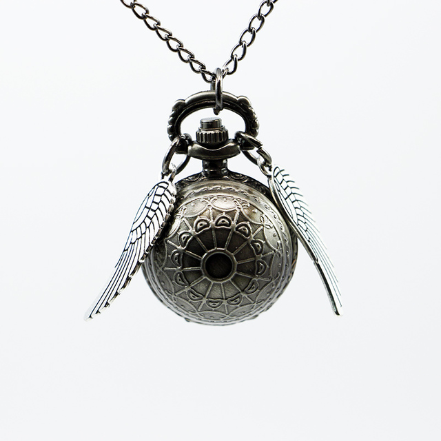 Antique Wings Decorated Metal Steampunk Pocket Watch