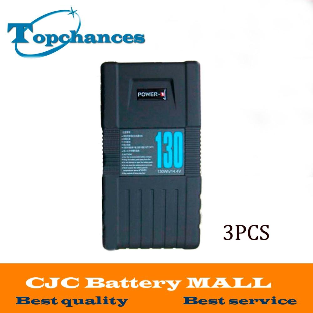 High Quality 3PCS BP-130S 130Wh POWER-U 14.8V 130W V-Mount Li-ion Battery For SONY 600p 650P mqpi 18lp power supplies board mount mr li