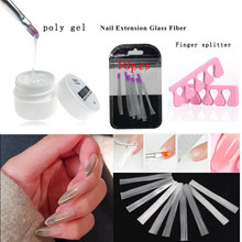 3PCS/SET fiberglass nails Polygel Nail Acrylic Poly Gel  Crystal UV LED Builder Tip Enhancement Quick Extension