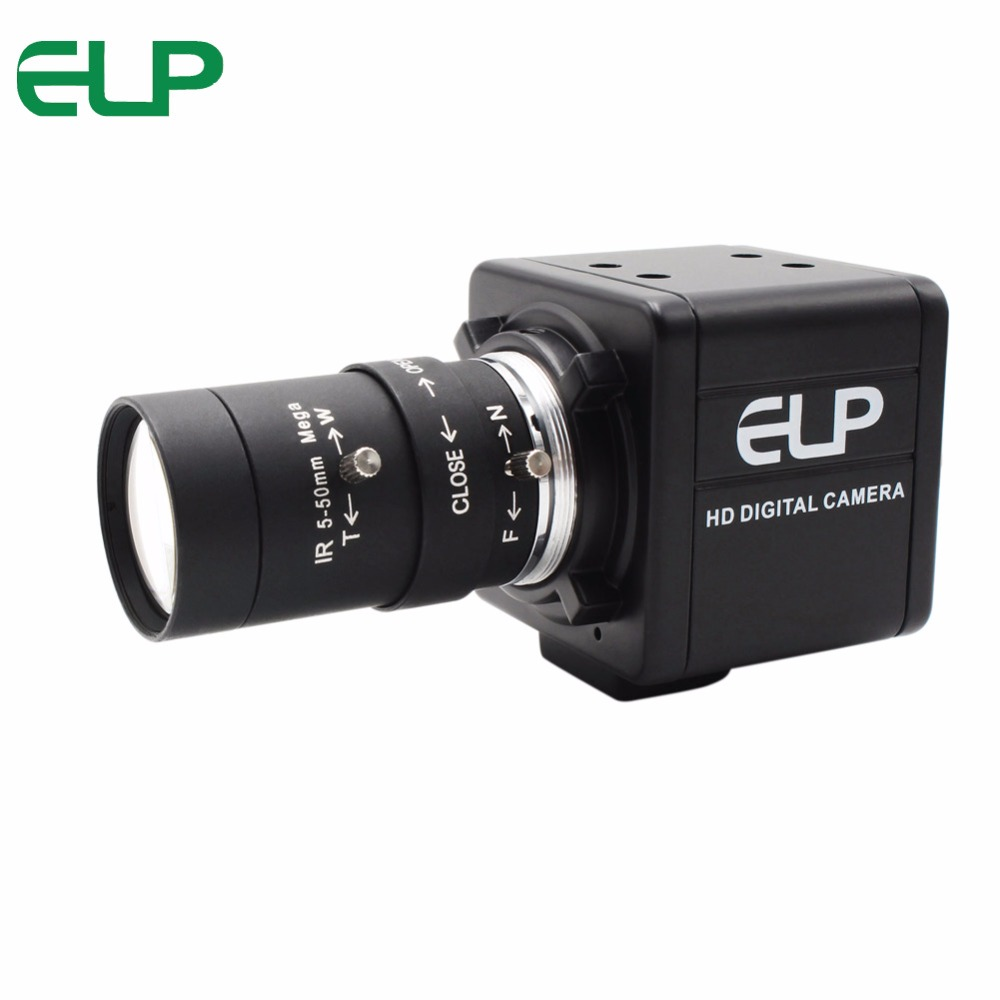 цена 5-50mm CS Mount lens Varifocal usb camera 1.0Megapixel 1280x720 CMOS OV9712 Usb camera module for Android Windows Linux