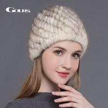 Gorros de piel de visón Real para mujer gorra de piña de alta calidad  gruesa cálida en invierno moda rusa gorros tejidos recién . 908931f39941