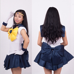 Anime The Sailor Moon  Tenoh Haruka Cosplay Costume Full Set Halloween Stage Party New Fashion Figure Cosplay Suit Drop Ship