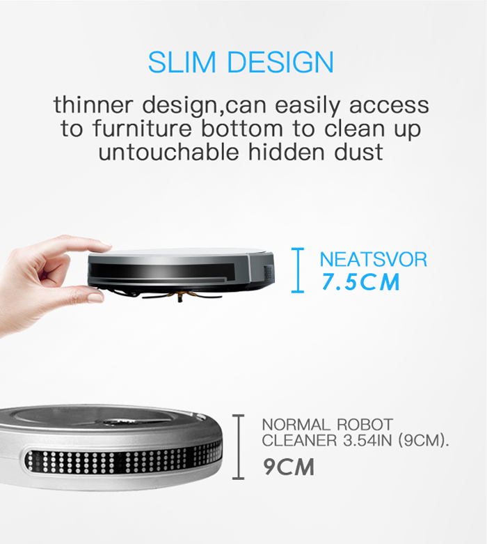 NEATSVOR X500 1800PA Robot Vacuum Cleaner for Wet or Dry Mopping with Map Navigation and Anti Collision Feature 28