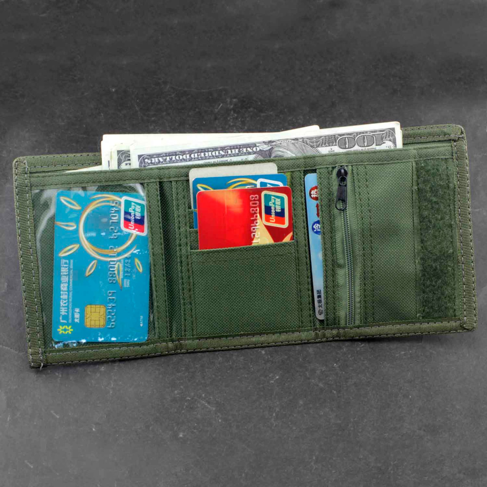 Men//Boy Army fans Star Trifold Wallet Card Holder Purse And Safety Metal Chain